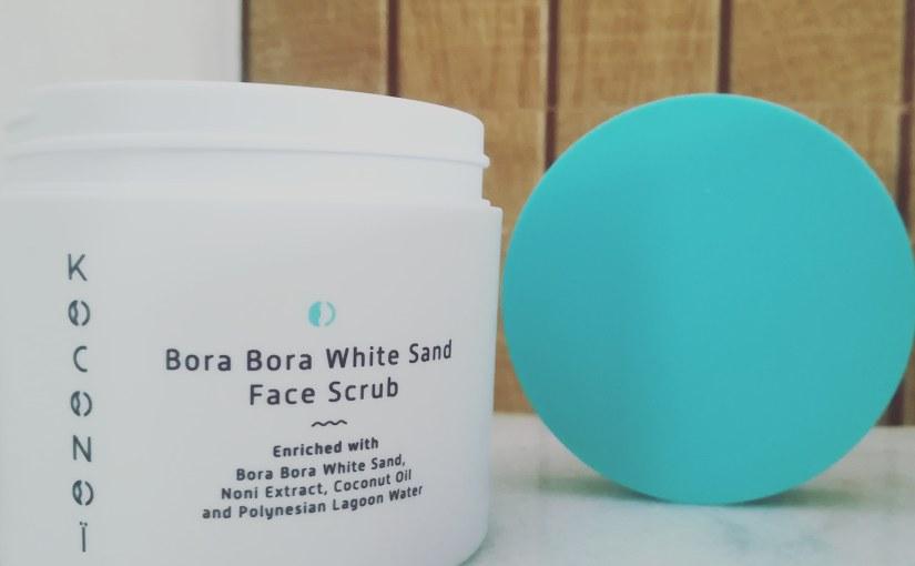 Koconoi Bora Bora White Sand; el exfoliante facial delparaíso